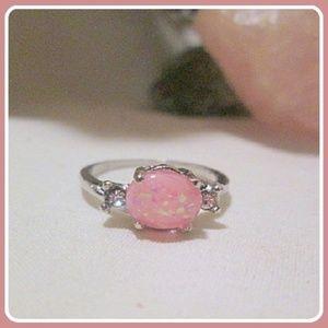 """Love & Harmony"" Pink Fire Opal Sterling Silver"